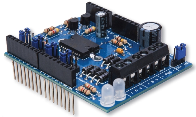 Velleman motor and power shield for arduino vma