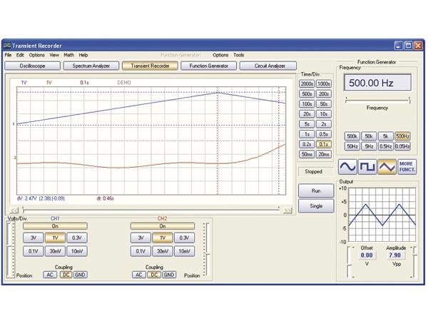 Function Generator For Windows : Velleman usb scope function generator pcsgu